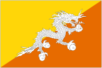 Country Code +975 flag image