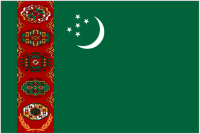 Country Code +993 flag image