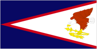 Country Code +1684 flag image