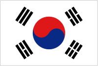 Country Code +82 flag image