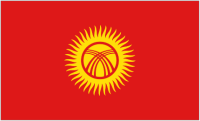 Country Code +996 flag image