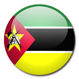 Country Code +258 flag image